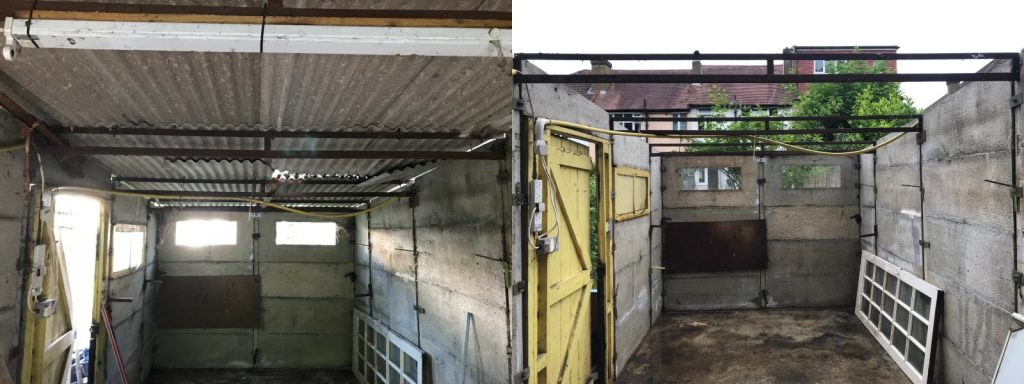 Asbestos Removal Before and After