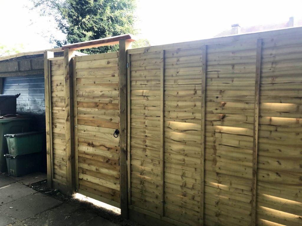 Techlifediy finished garden gate from outside