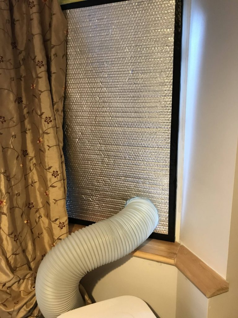 DIY-polystyrene-window-seal-vent-for-portable-air-conditioner-finshed-product