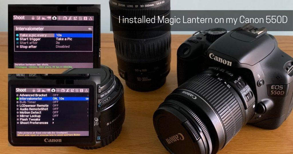 Magic Lantern installed on my Canon 550D intervalometer screenshot