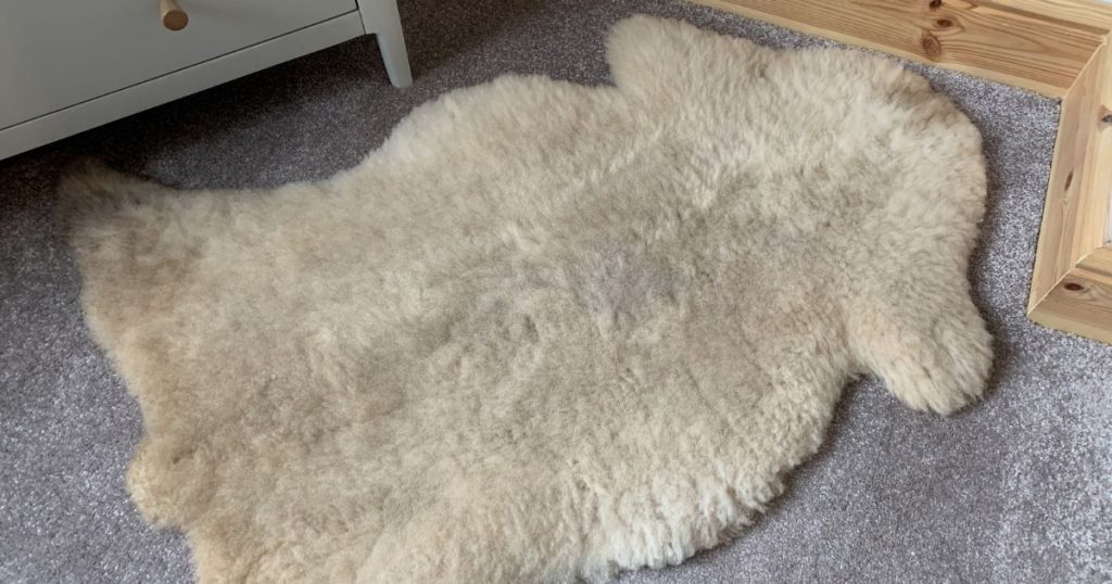 Our-sheep-skin-rug-for-our-baby-3-essential-things