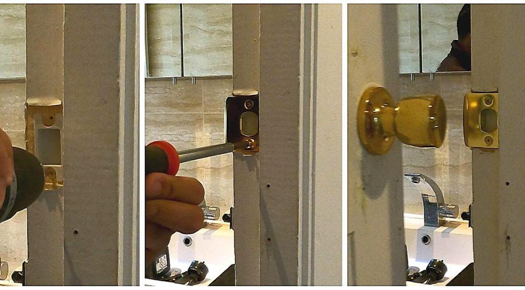 27-attaching-strike-plate-to-door-frame-for-door-knob-handle-lock