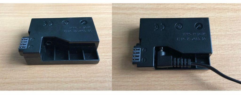 Canon-DSLR-DC-battery-coupler-connection
