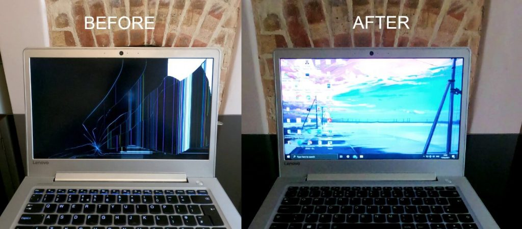 Lenovo-laptop-broken-screen-fix-before-and-after