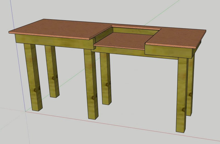 DIY Mitre and Table Saw Workbench Design with Sketchup